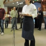 Justine de Valicourt presenting her dish to the judges