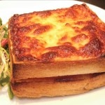Delicious croque monsieur