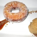 Citrus vanilla sugar doughnut with coffee ice cream