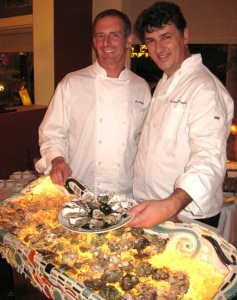 Chef Joe Miller & Maître Ecailler Christophe Happillon at Joe's restaurant