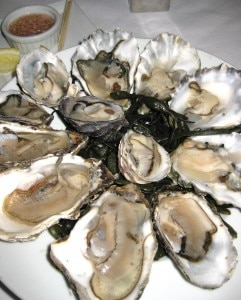 The oysters at your table