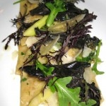 Porcini mushroom ravioli with wild mushrooms, parmesan broth and Italian parsley
