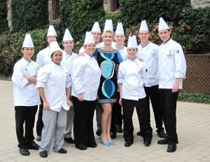 sophiegayotchefs2 300x231 The contestants with Sophie Gayot