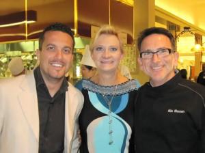 Chefs Fabio Viviani & Rick Moonen with Sophie Gayot