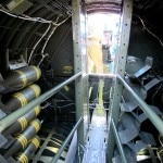 Bomb bay and cat walk to cockpit
