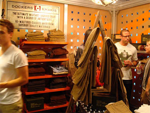 dockers fashion event The Dockers K 1 Khaki display at American Rag Cie