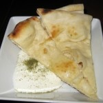Feta cheese yogurt with flat bread