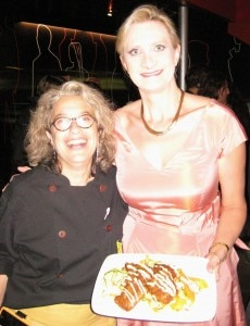 Chef Susan Feniger with Sophie Gayot at STREET restaurant