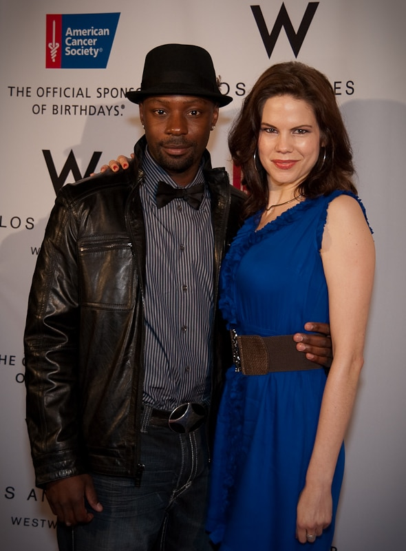 "Nelsan Ellis and Mariana Klaveno of ""True Blood"""