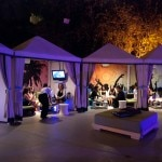 Poolside cabanas transformed into VIP lounges for celebs and ACS execs.