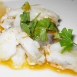 Gamberoni Mexican Gulf shrimp with lemon & basil tomato oil