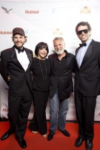 hosts 199x300 Alan Kropf, Mr. and Mrs. Jonathan Goldsmith and Ben Morrison