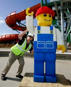 Currently under construction, the LEGOLAND Water Park in Carlsbad, CA is set to open next month