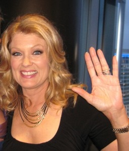 Mary Hart, from Entertainment Tonight, at the opening party of WP24