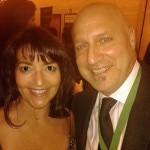 Outstanding Chef award winner Tom Colicchio with Meryl Pearlstein