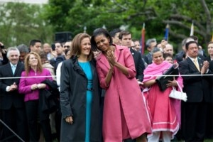 First Lady Michelle Obama with First Lady Margarita Zavala