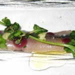 Sardine with pomegranate gelée