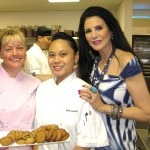 Spago pastry chef Sherry Yard, WP24 pastry chef Sally Camacho with Barbara Lazaroff