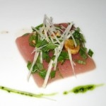 Tuna with celery root salad