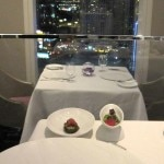 Dinning with views of Las Vegas