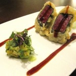 Ahi tempura with avocado and mango ensaladilla