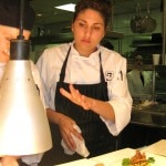 Amanda Baumgarten, now sous-chef at Water Grill restaurant