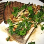 Beef marrow, king oyster mushrooms & walnuts