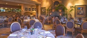 The dining room at Delicias restaurant in Rancho Santa Fe, CA near San Diego