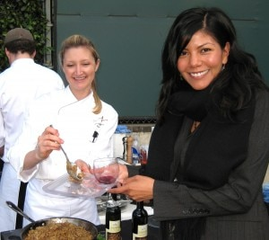 Lisa Strong, chef Craig Strong's wife, with sous-chef Meredith Manee of Culina at Four Seasons at Beverly Hills