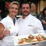 Chef Mirko Paderno, from Oliverio, Beverly Hills, with tomato, basil and burrata cheese pizzetta