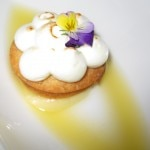Nelson sablé with meringue & citrus sorbet