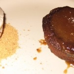Sticky toffee pudding, ice cream, maldon salt & fried kugel