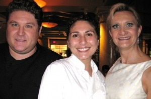 Water Grill chef David LeFevre & Top Chef, Season 7, contestant Amanda Baumgarten with Sophie Gayot