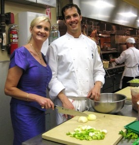 Chef de cuisine Thomas Boyce with Sophie Gayot