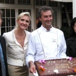 Consul General of France David Martinon, Sophie Gayot, pastry chef Yvan Valentin, Christine Ourmières, Vice President & General Manager USA