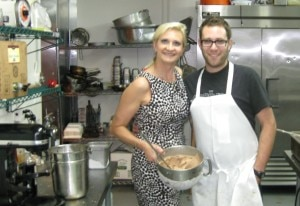 Top chef winner season 2 Ilan Hall at The Gorbals with Sophie Gayot