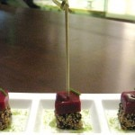 tunaraspberryskewers 150x150 Cuisine from the Iberico Sun