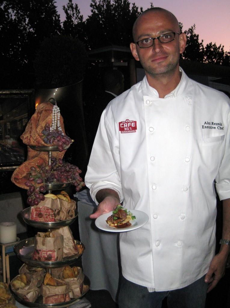 Chef Alex Reznik from Ivan Kane's Café Wa s