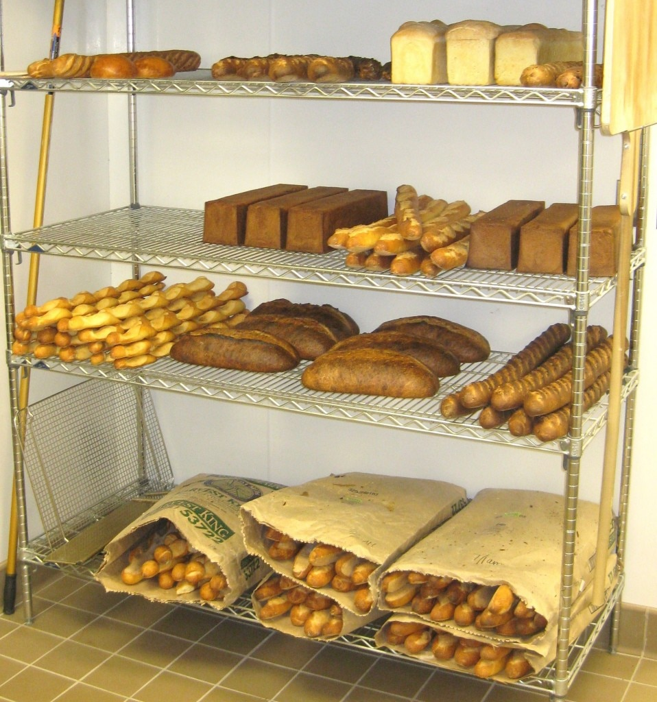 Fresh breads in the bakery at Bouchon Beverly Hills