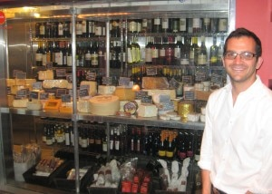 cube restaurant berkowitz 300x214 General manager Jason Berkowitz in front of the cheese display