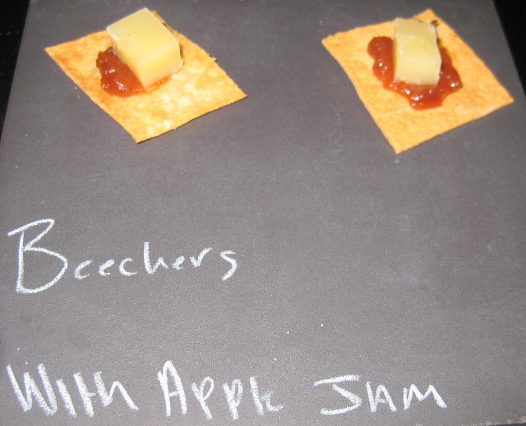 Beecher's cheese with apple jam