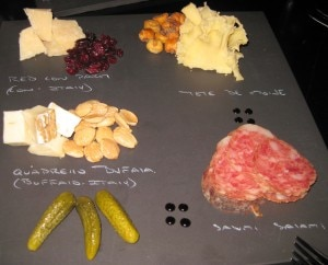 cube restaurant cheesesplates 300x242 Cheese plate