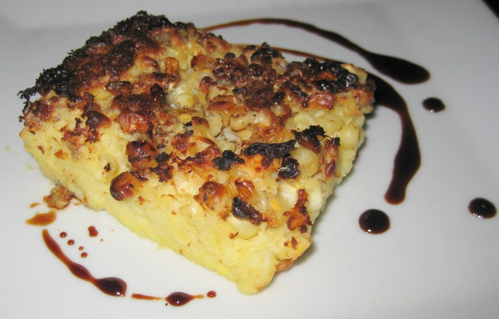 First of the season corn pudding with aged balsamic