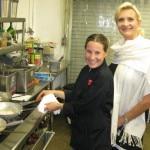Chef Erin Eastland with Sophie Gayot