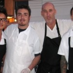 Chef Marc Gold (with the black eperon) of Eva Restaurant