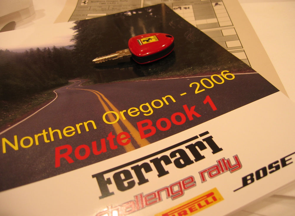 Ferrari rally route book