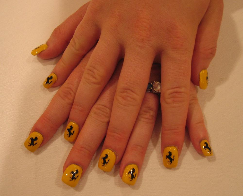Ferrari manicure