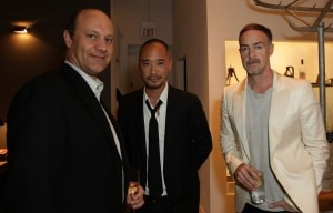 fiji water gallery owners 300x192 Alain Gayot with Galerie Half owners Clifford Fong and Cameron Smith