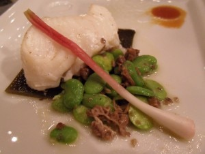Grilled Chilean sea bass with truffles