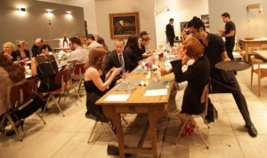 Guests tasting and sipping